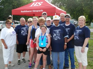 Just a few of the many volunteers who support our center. This was at our Annual Triathlon in June 2014.